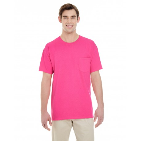 G530 Gildan G530 Adult 5.3 oz. Pocket T-Shirt HELICONIA