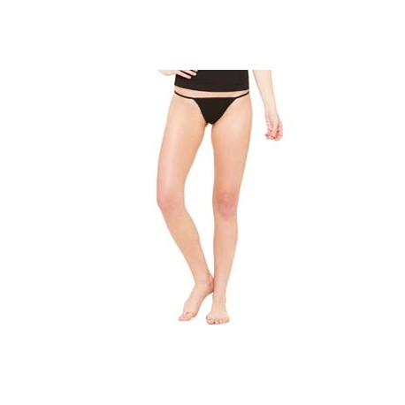 B301 Bella + Canvas B301 Ladies' Cotton/Spandex Thong Bikini BLACK