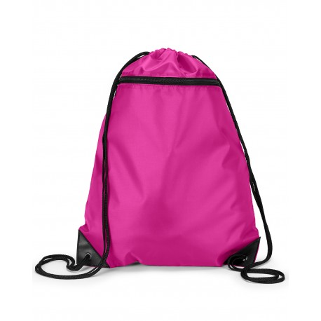 8888 Liberty Bags 8888 Zipper Drawstring Backpack HOT PINK