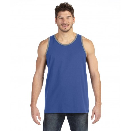 986 Anvil 986 Adult Lightweight Tank HTH BLUE/HT GRY