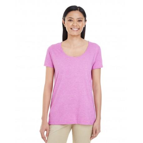 G6455L Gildan G6455L Ladies' Softstyle 4.5 oz. Deep Scoop T-Shirt HTH RDNT ORCHID