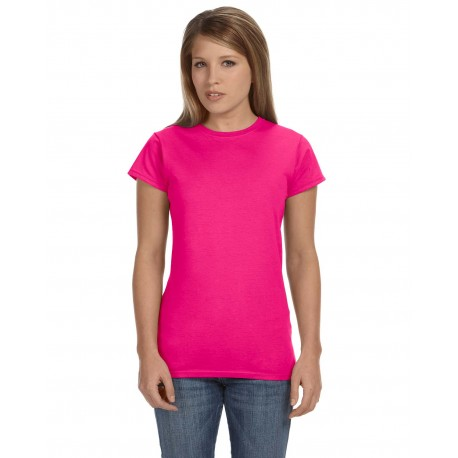 G640L Gildan G640L Ladies' Softstyle 4.5 oz. Fitted T-Shirt ANTQUE HELICONIA