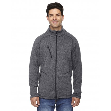 88669 North End 88669 Men's Peak Sweater Fleece Jacket HTHR CHRCL 745