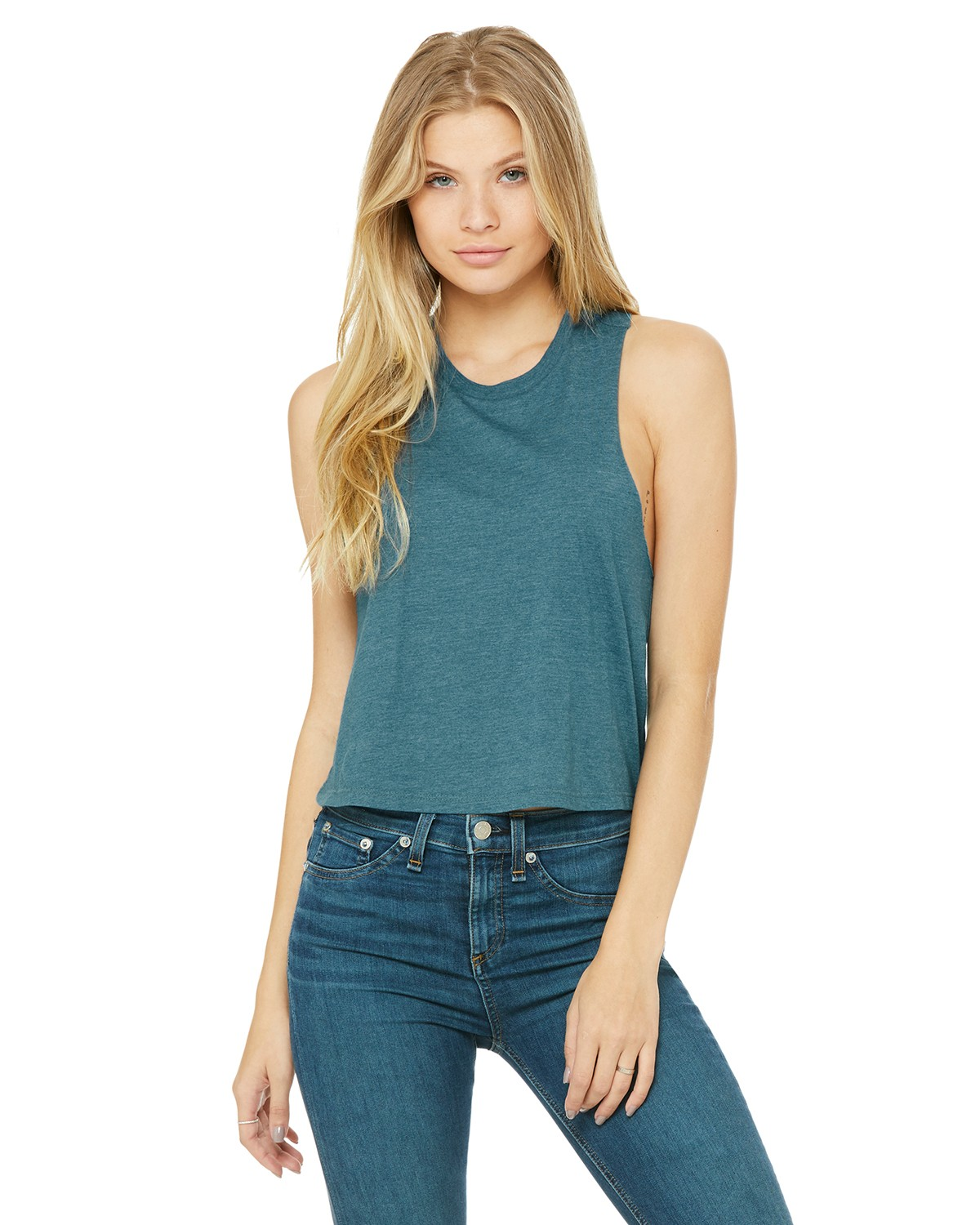 6682 Bella + Canvas HTHR DEEP TEAL