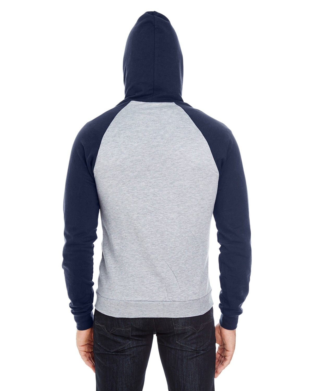 5497W American Apparel HTHR GREY/NAVY