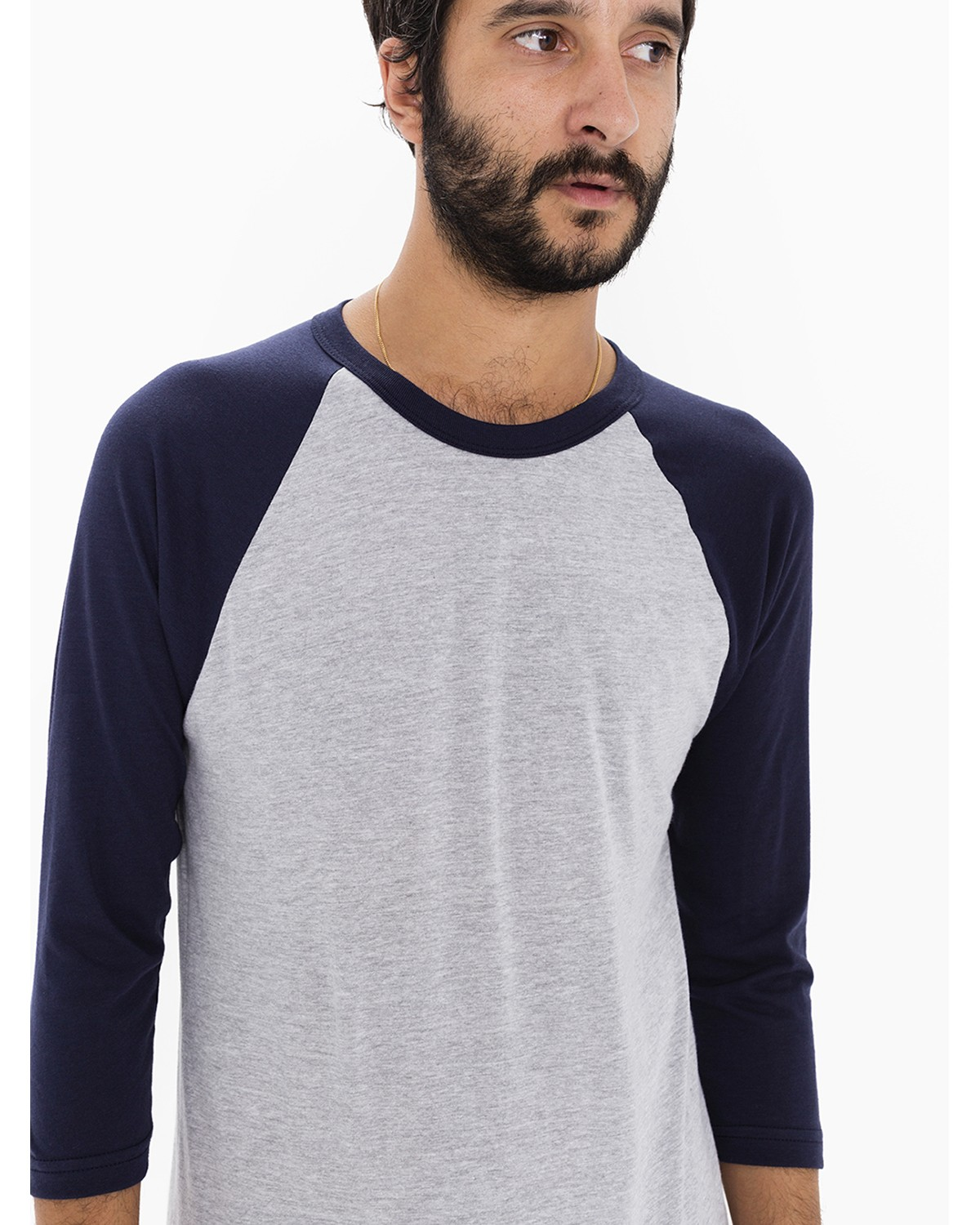 BB453W American Apparel HTHR GREY/NAVY
