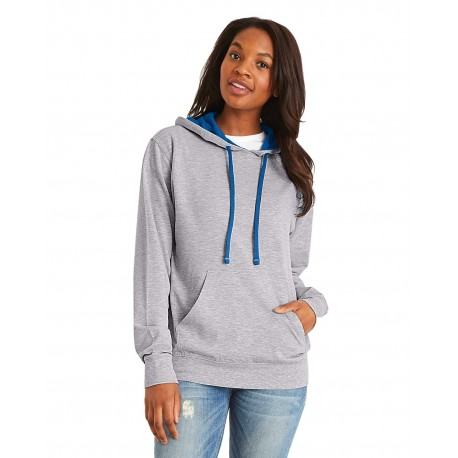 9301 Next Level 9301 Unisex French Terry Pullover Hoody HTHR GREY/ROYAL