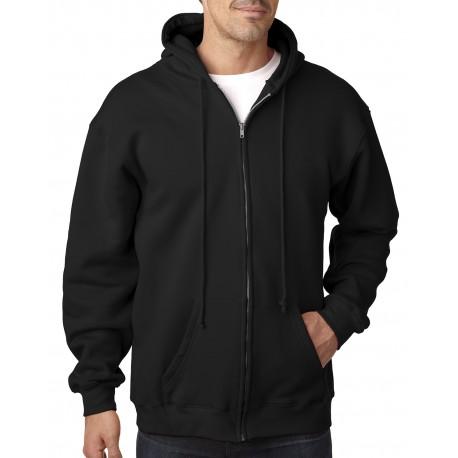 BA900 Bayside BA900 Adult Hooded Full-Zip Fleece BLACK