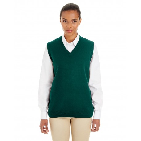 M415W Harriton M415W Ladies' Pilbloc V-Neck Sweater Vest HUNTER