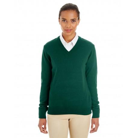 M420W Harriton M420W Ladies' Pilbloc V-Neck Sweater HUNTER
