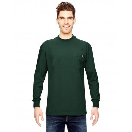 WL450 Dickies WL450 Men's 6.75 oz. Heavyweight Work Long-Sleeve T-Shirt HUNTER GREEN