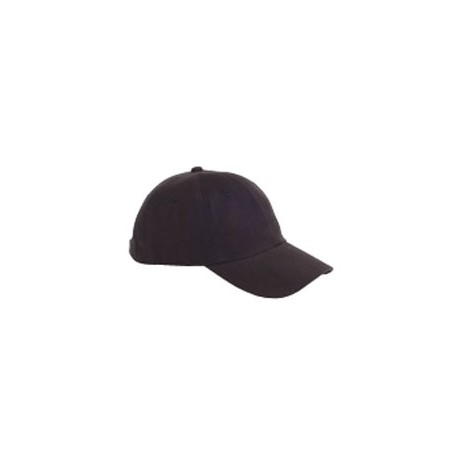 BX001Y Big Accessories BX001Y Youth 6-Panel Brushed Twill Unstructured Cap BLACK