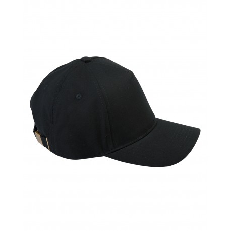 BX034 Big Accessories BX034 5-Panel Brushed Twill Cap BLACK