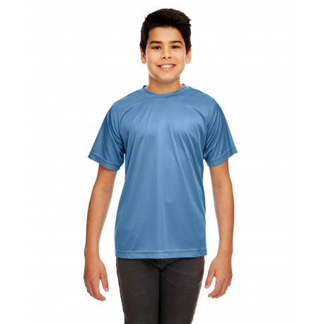 8420Y UltraClub 8420Y Youth Cool & Dry Sport Performance Interlock T-Shirt INDIGO