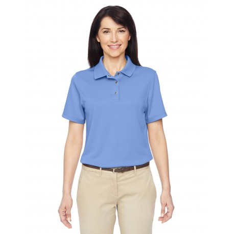 M345W Harriton M345W Ladies' Advantage IL Snap Placket Performance Polo INDUSTRY BLUE