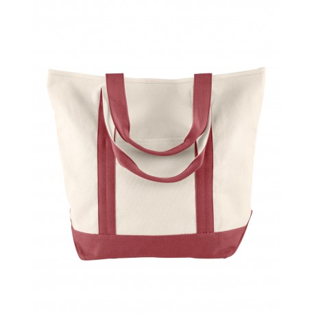 C340 Comfort Colors C340 Canvas Heavy Tote IVORY/BRICK