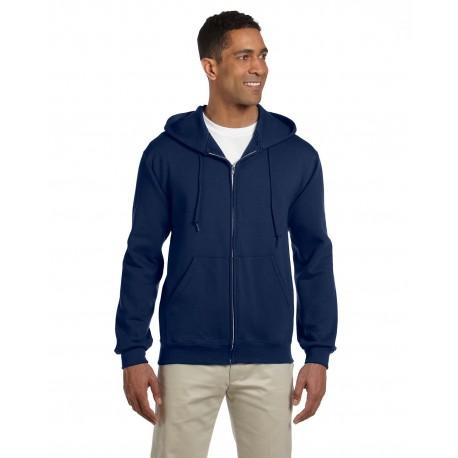 4999 Jerzees 4999 Adult 9.5 oz., Super Sweats NuBlend Fleece Full-Zip Hood J NAVY