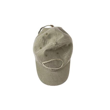 1917 Authentic Pigment 1917 Pigment-Dyed Raw-Edge Patch Baseball Cap KHAKI