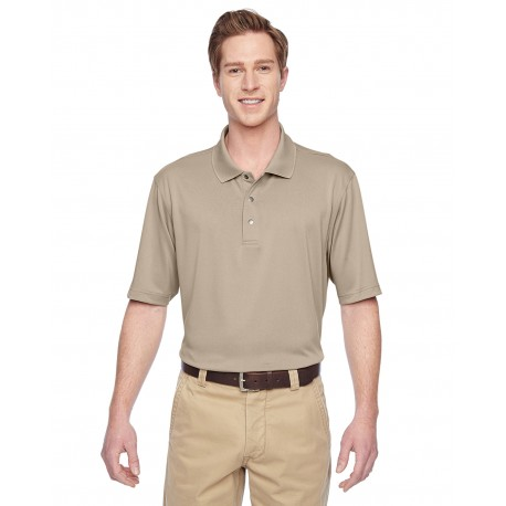 M345 Harriton M345 Men's Advantage IL Snap Placket Performance Polo KHAKI