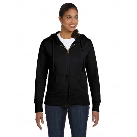 EC4501 Econscious EC4501 Ladies' 9 oz. Organic/Recycled Full-Zip Hood BLACK