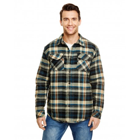 B8610 Burnside B8610 Adult Quilted Flannel Jacket KHAKI