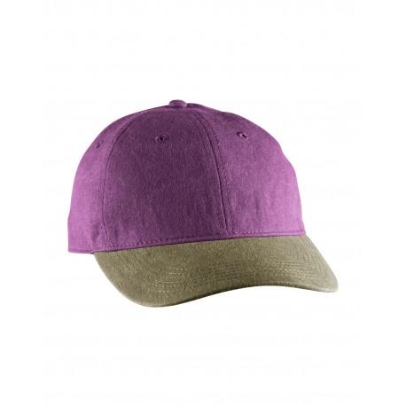 104 Comfort Colors 104 Pigment-Dyed Canvas Baseball Cap KHAKI/VINEYARD