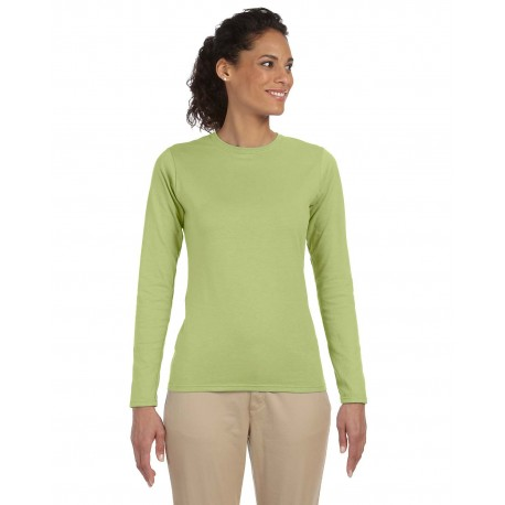 G644L Gildan G644L Ladies' Softstyle 4.5 oz. Long-Sleeve T-Shirt KIWI
