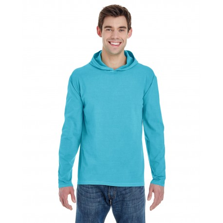 4900 Comfort Colors 4900 Adult Heavyweight RS Long-Sleeve Hooded T-Shirt LAGOON BLUE