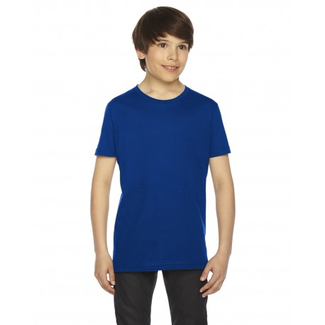 2201 American Apparel 2201 Youth Fine Jersey USA Made Short-Sleeve T-Shirt LAPIS
