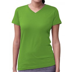 LAT 3507 Ladies' V-Neck Fine Jersey T-Shirt