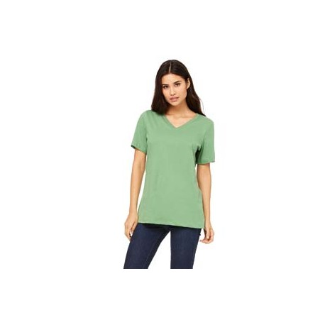 6405 Bella + Canvas 6405 Ladies' Relaxed Jersey Short-Sleeve V-Neck T-Shirt LEAF