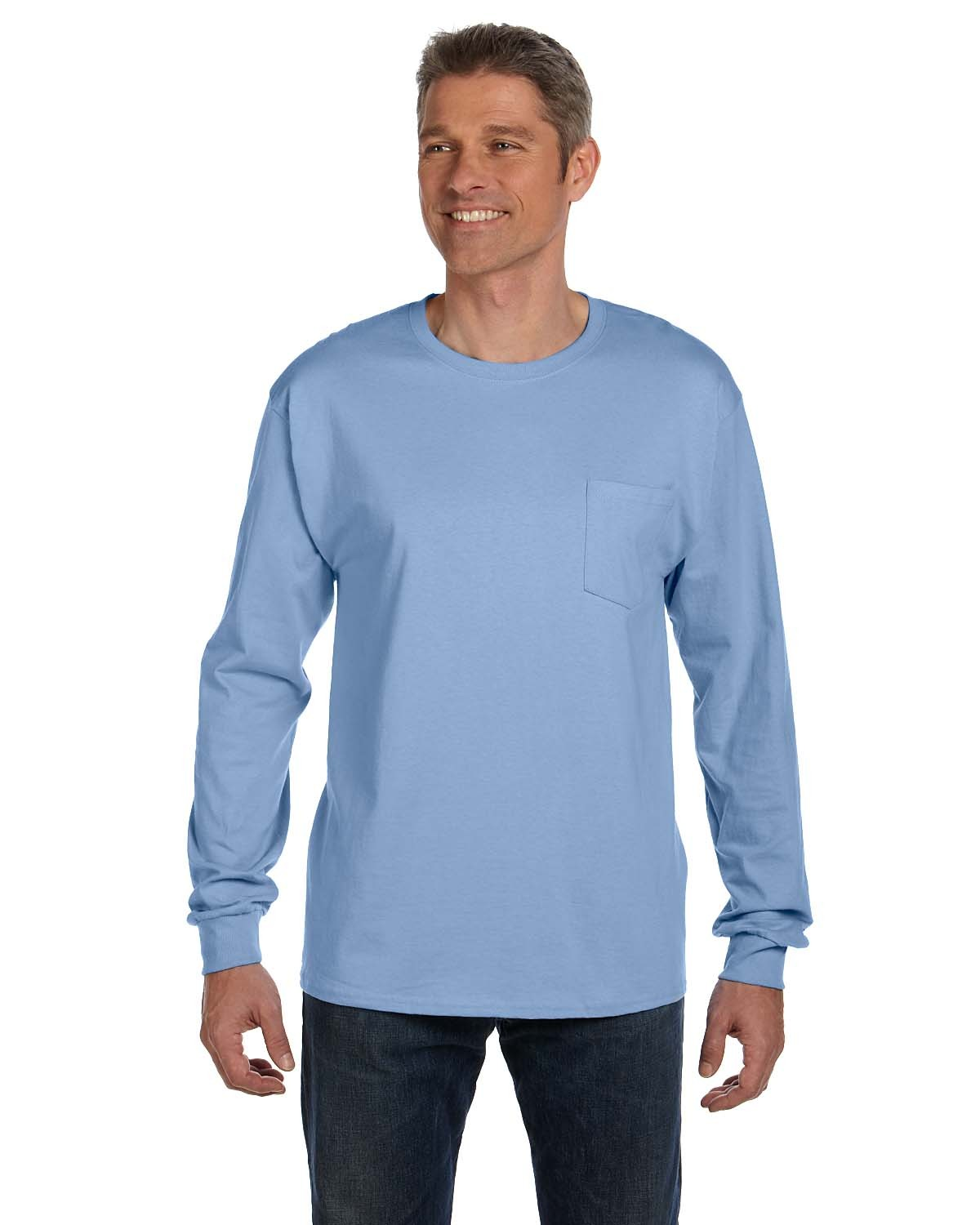 5596 Hanes LIGHT BLUE