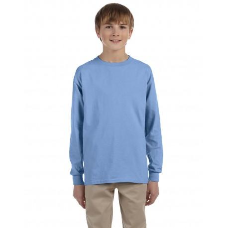 29BL Jerzees 29BL Youth 5.6 oz. DRI-POWER ACTIVE Long-Sleeve T-Shirt LIGHT BLUE