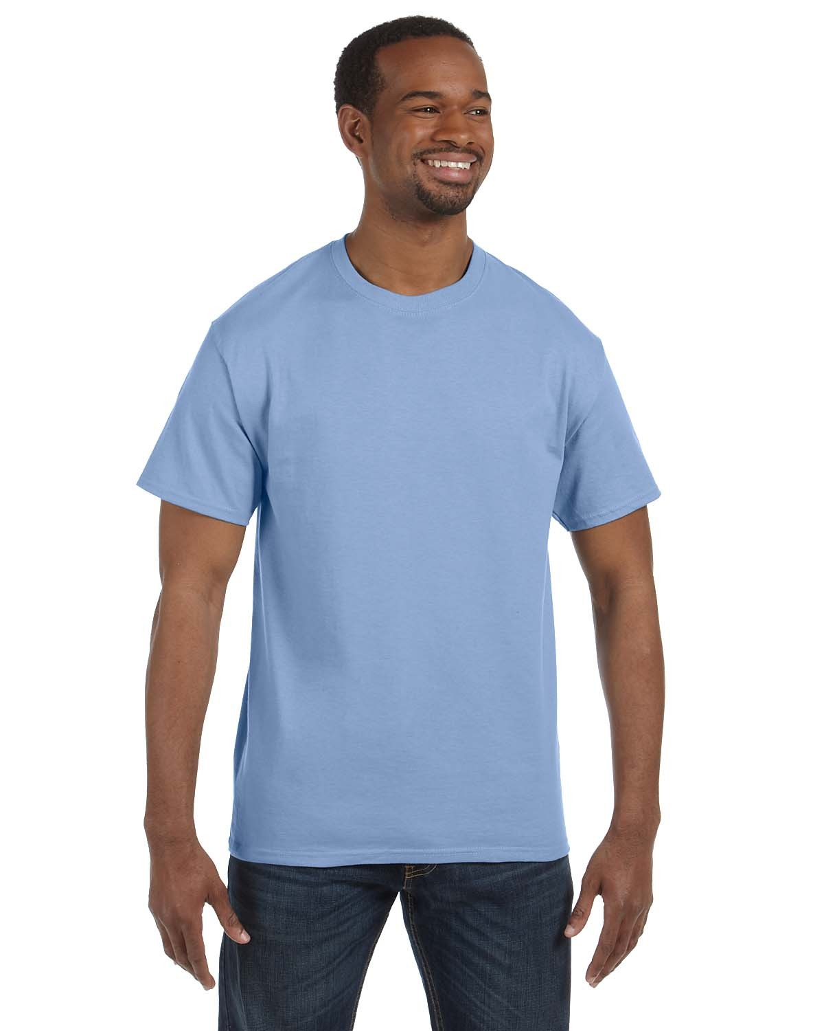 5250T Hanes LIGHT BLUE