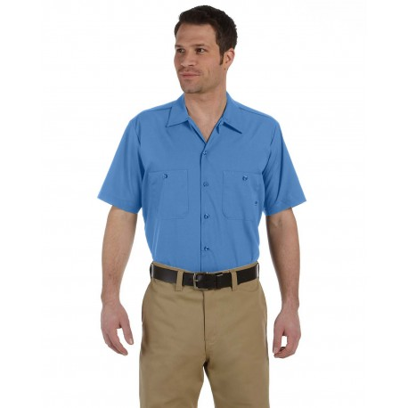 LS535 Dickies LS535 Men's 4.25 oz. Industrial Short-Sleeve Work Shirt LIGHT BLUE