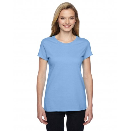 SSFJR Fruit of the Loom SSFJR Ladies' 4.7 oz. Sofspun Jersey Junior Crew T-Shirt LIGHT BLUE