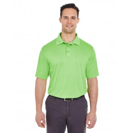 8220 UltraClub 8220 Men's Cool & Dry Jacquard Stripe Polo LIGHT GREEN