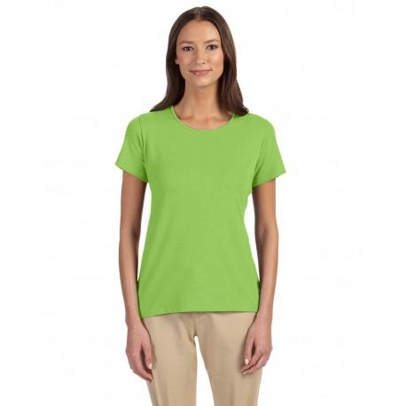 DP182W Devon & Jones DP182W Ladies' Perfect Fit Shell T-Shirt LIME