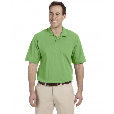 M265 Harriton M265 Men's 5.6 oz. Easy Blend Polo LIME