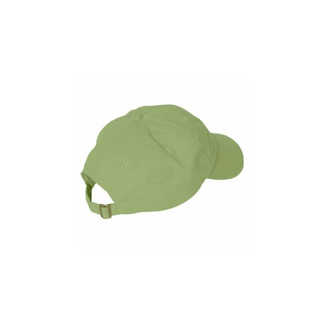 ACEB101 Adams ACEB101 Brushed Cotton Six-Panel Twill Cap LIME