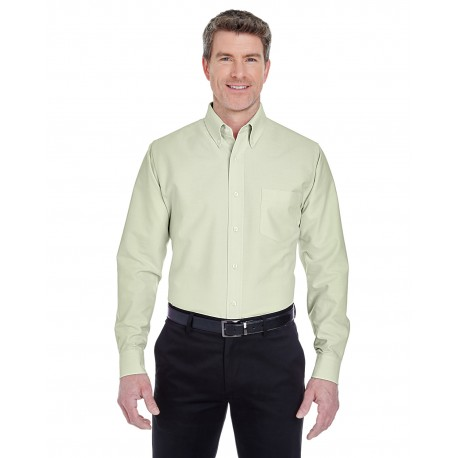 8970 UltraClub 8970 Men's Classic Wrinkle-Resistant Long-Sleeve Oxford LIME
