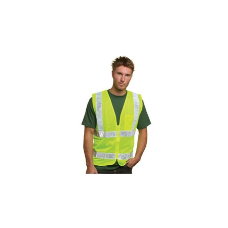 BA3785 Bayside BA3785 Mesh Safety Vest - Lime LIME GREEN
