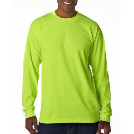 BA1715 Bayside BA1715 Adult Long-Sleeve T-Shirt LIME GREEN