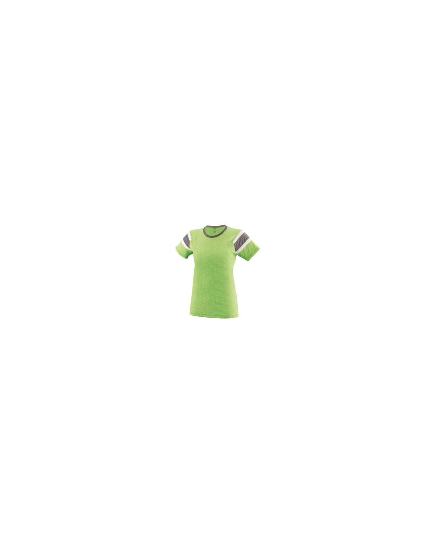 3011 Augusta Sportswear LIME/SLTE/WHT