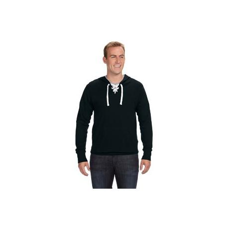 JA8231 J America JA8231 Adult Sport Lace Jersey Hood BLACK
