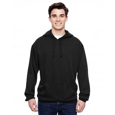 JA8815 J America JA8815 Adult Tailgate Fleece Pullover Hood BLACK