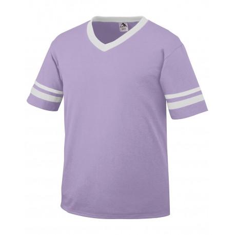 360 Augusta Sportswear 360 Adult Sleeve Stripe Jersey LT LAVNDR/WHT