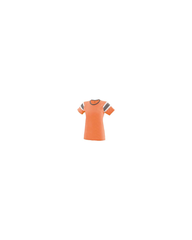 3011 Augusta Sportswear LT ORNG/SLT/WH