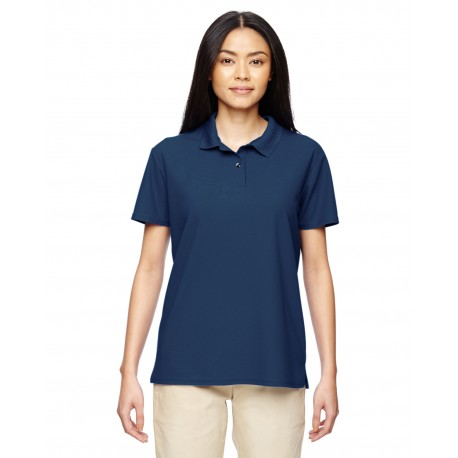 G448L Gildan G448L Ladies' Performance 4.7 oz. Jersey Polo MARBLE NAVY