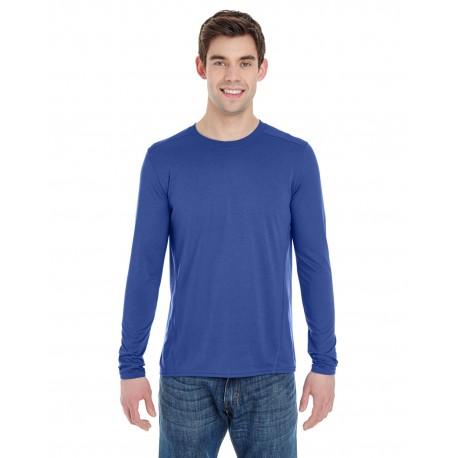 G474 Gildan G474 Adult Performance Adult 4.7 oz. Long-Sleeve Tech T-Shirt MARBLED ROYAL